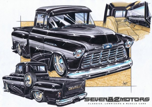 1956 Chevy pick up build. after