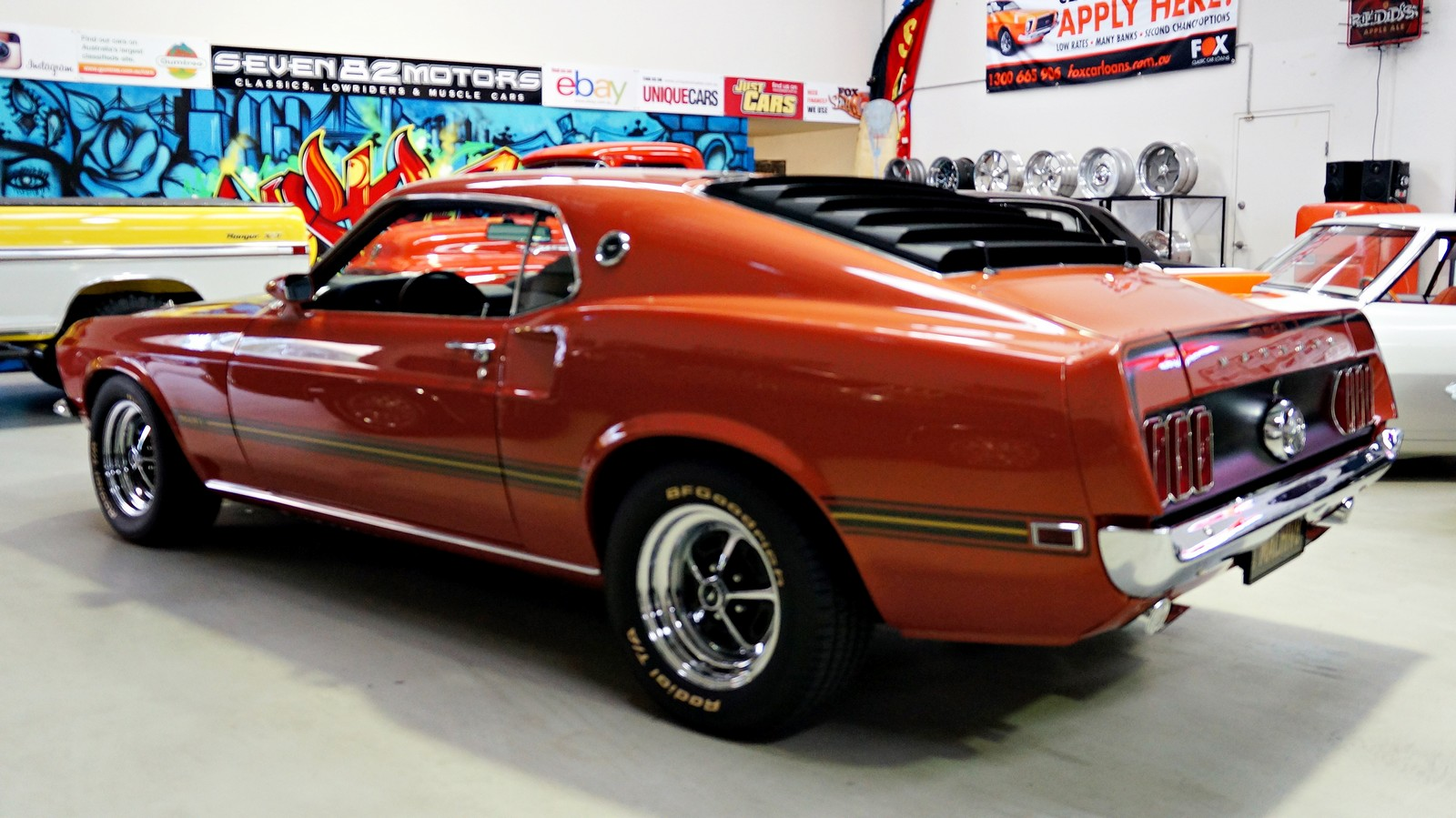 sold 1969 ford mach 1 mustang seven82motors. Black Bedroom Furniture Sets. Home Design Ideas