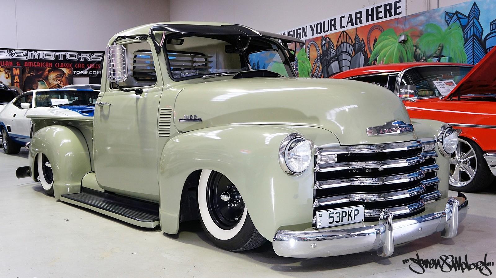 sold 1953 chevy 3100 pick up seven82motors. Black Bedroom Furniture Sets. Home Design Ideas