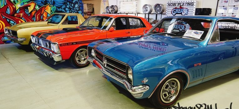 HG pro street, XY GT and Bathurst HK GTS Holden