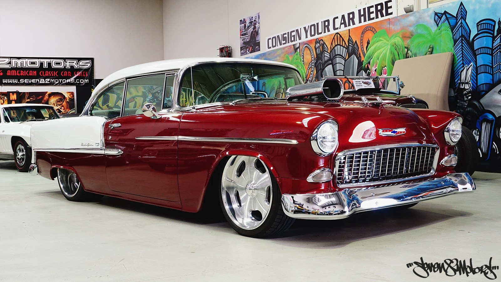 Classic Cars For Sale Seven82motors 1966 Chevrolet Bel Air Value 1955 Chevy Belair Sports Coupe