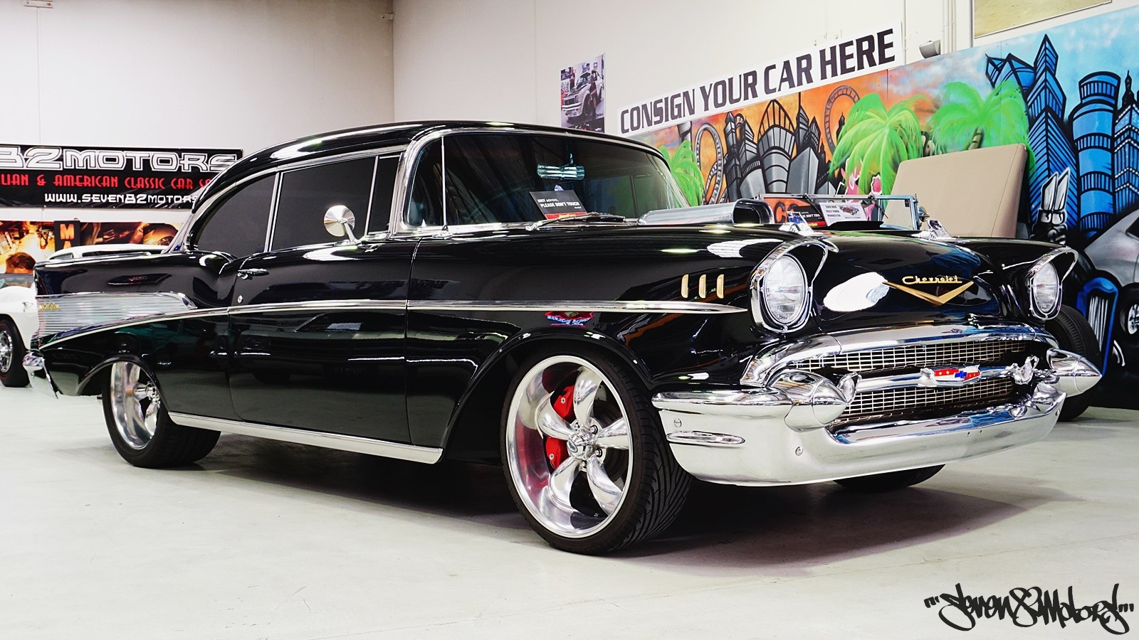 Sold 1957 Chevy Belair Sports Coupe For Sale Seven82motors 57 Bel Air Rear Bumper